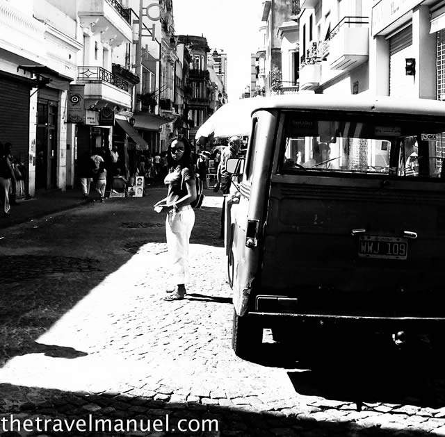 Buenos Aires in black and white.