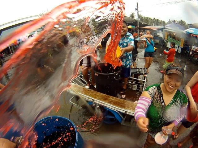 Celebrating Songkran in Koh Phangan.