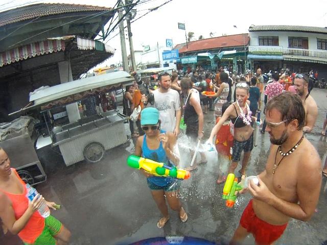 Songkran, Koh Phangan
